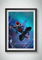 SPIDERMAN Miles Morales POSTER Print Marvel Wall Art Prints Into the Spider Vers