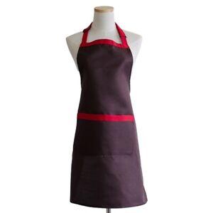Bib Apron Adjustable Strap Pinafore Restaurant Cook Workwear Barista Uniform Hot