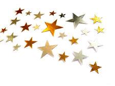 Pequeño Oro y Plata Estrellas Pegatinas Decorativas para Niños &card