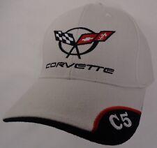 Hat Cap Chevrolet Chevy Corvette C5 C 5 Corner White H205