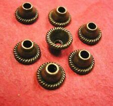 24 pc 8mm antique bronze metal bead cap-4126
