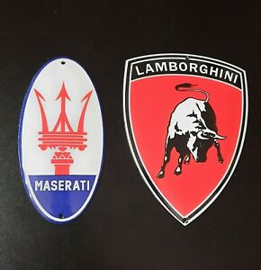 Lamborghini, Masarati  Sportwagen,Automobil Logo Garagen Werkstatt, Email Schild