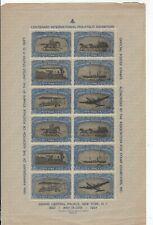 1947 CENTENARY PHILATELIC EXHIBITION NEW YORK FULL SHEET MNH....4.15.21
