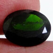 NATURAL LARGE OVAL-CUT CHROME DIOPSIDE GEMSTONE LOOSE 11.9 x 10.7 mm AAA GREEN