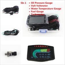 5 Function 12v/24v Oil Pressure /Voltmeter/Water Temp /Fuel Gauge+Tachometer