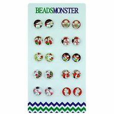 Christmas Magnetic Clip-On Stud Earrings Little Girls Kids Teenage Womens x10