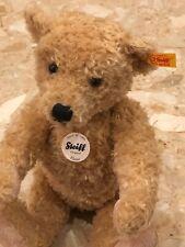 """STEIFF Original ELMAR TEDDY BEAR PLUSH 13"""" Beige Stuffed Animal New With Tags"""
