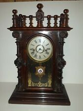 "Welch, Spring & Co. Mantel clock, Conn., ""Gerster, V.P."", 8-day, time and strike"