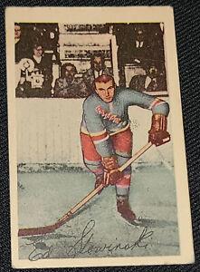 1952-1953 - PARKHURST - EDWARD SLOWINSKI NEW YORK RANGERS - NHL HOCKEY CARD #19