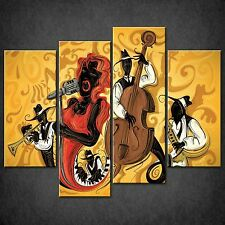 ASTRATTO jazz music SPLIT CANVAS Wall Art STAMPA FOTO Taglie Grandi Disponibili