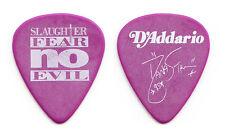 Slaughter Dana Strum Signature Purple Guitar Pick - 1995 Fear No Evil Tour