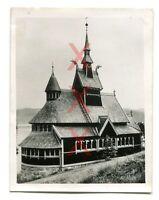 BALHOLM, Norwegen, Kirche, orig. Foto, Agfa Lupex, 1938, Kreuzer Emden, Norway