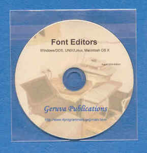Font Editor s for Linux, UNIX, Windows/DOS, Macintosh