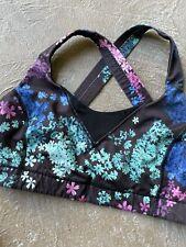 Lululemon All Sport Bra Size 10 Spring Has Sprung Multi Black Floral Racerback