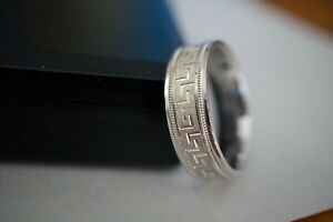 Silver Deppo 925 Sterling Silver Greek Key Design Mens Band Ring Size 11.5''