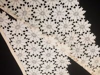Vintage Lace Collar Trim Chemical  Salvage Costume Sewing Doll Clothes Art