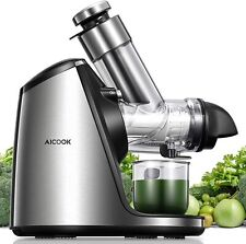 AICOOK Juicer Machines, 3 inch Large Feed Chute, Stainless Steel SJZ1