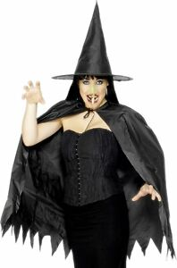 Ladies  Instant Witch Kit with Cape, Hat and Nose