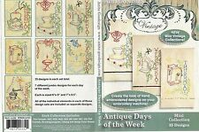Anita Goodesign Antique Days of the Week Embroidery Design CD NEW 88MAGHD