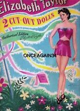 Vintage Uncut 1949 Elizabeth Taylor Paper Dolls~#1 Reproduction~Fabulous/Rar e!
