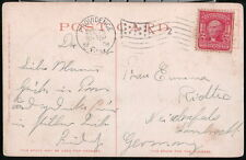 PROVIDENCE RI Antique XMas Dec 25 Flag Cancel 2 cent Washington Stamp Postcard