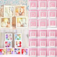 Letter A- Z Transparent Gift Boxes Kid Birthday Baby Shower Party Decoration 1PC