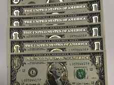 Uncirculated GOLD Leaf $1  Dollars(4 bills)World Reserve Monetary Exchange