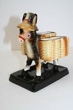 Chase Japan Ceramic Donkey in Sombrero Cigarette Toothpick Holder or Desk Caddy