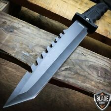 "13"" Fixed Blade Tactical Fishing Hunting Survival Knife w Sheath Bowie Camping-U"
