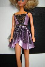 Purple lavender black dress that fits Barbie
