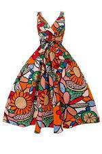 New Rockabilly Ladies 50s Retro Vintage Floral Cotton Swing Pin Up Party Dress