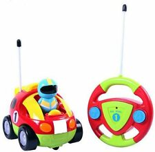 New Cartoon R C Race Car Radio Control Toy for Toddlers Free Shipping