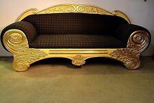 Antique Biedermeier Empire carved Sofa settee gold gilt lounge genuine 1833 rare