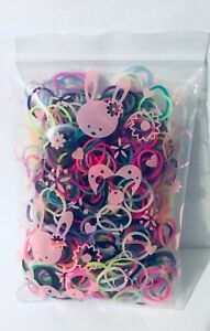 300pc   Colour Rubber Baby Toddler Hair Ties Hair Band Elastic Ties