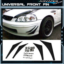 Universal Front Bumper Flexible Add On Spoiler Canards Splitters Fins 4PC - PU