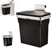 Cabinet Door Trash Can Wastebasket Hanging Heavy Duty Kitchen Garbage Bin Office