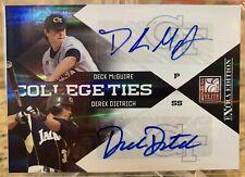 2010 Elite Extra Edition Derek Dietrich Dual Auto #23/50 Deck McGuire