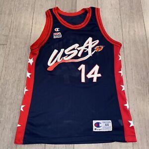 Vtg Champion USA BASKETBALL Jersey Gary Payton Dream Team Olympic 1996 Sonics 44