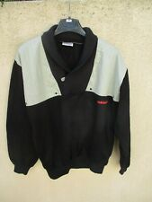 Sweat ADIDAS vintage Ventex made in France noir années 80 shirt oldschool 174 M