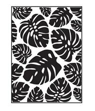 4.25 x 5.75 Darice Embossing Folder Tropical PALM LEAVES Background 30023119