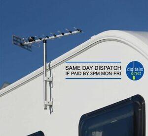 Maxview Touring TV Aerial Kit With Pole Mount for Caravan, Motorhome, Camper Van
