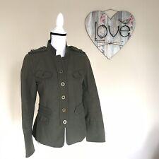 ZARA Women Military Field Cotton Khaki Green Jacket Size M