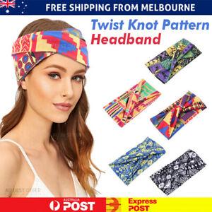 Headbands Twist Knot Pattern Head Wrap Sport Wide Turban Hair Accessories Ladies