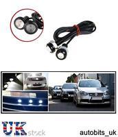2x 12v 10w LED Eagle Eye Diurne DRL Nebbia Luce Bianca Backup Auto Moto