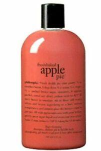 Philosophy Fresh Baked Apple Pie 3 in 1 Shower Gel Body Wash 16 oz  NEW
