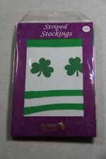 Dr Tom's Green & White Striped Adult Stockings Factory Sealed Brand New