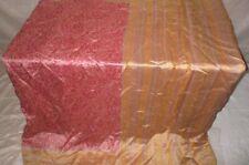 Pure silk Antique Vintage Sari HUCE LOT 4y T21 267 Yellow Wine DECOR #ABDGS