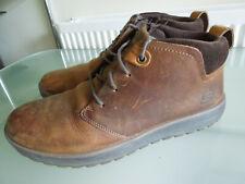Men's Skechers Brown leather boots ~ UK 9.5 ~ Classic Fit Memory Foam