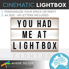 A4 Light box Display Sign Board Cinematic Includes 85 Letter Numbers Home Decor