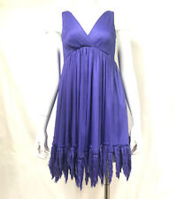 Elizabeth and James Purple Priscilla Fringe Chifon Dress S $375